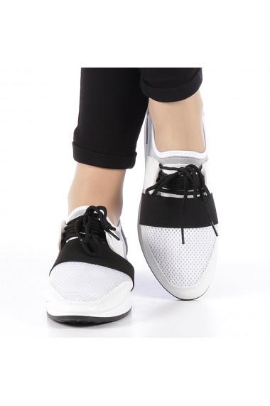 Pantofi sport dama Sansa albi