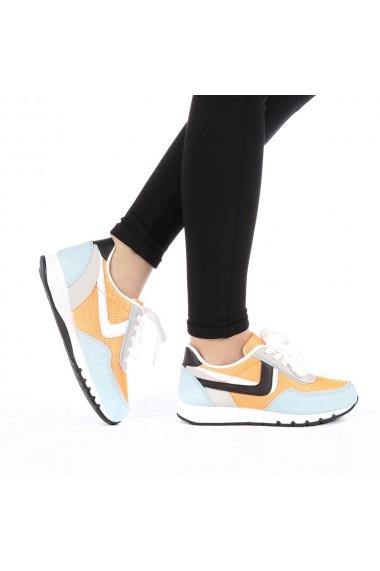 Pantofi sport dama Bony portocalii