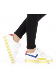 Pantofi sport dama Gratiela albi cu galben