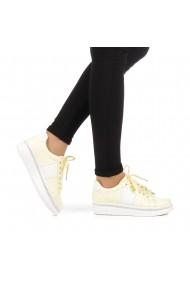 Pantofi sport dama Alliance galbeni cu alb