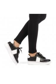 Pantofi sport dama Alliance negri cu alb