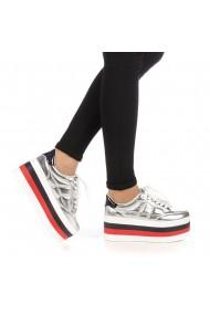 Pantofi sport dama Eiros argintii