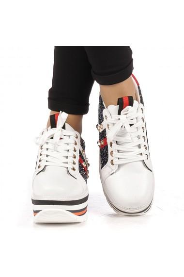 Pantofi sport dama Bienne albi