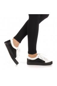 Pantofi sport dama Olanis albi cu negru