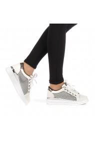 Pantofi sport dama Malih albi cu negru