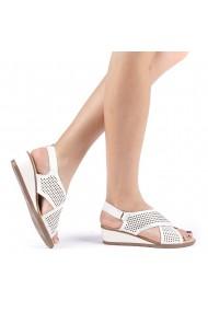 Sandale dama Edita albe