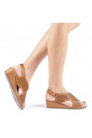 Sandale dama Edita camel
