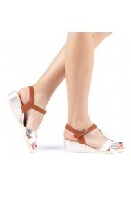 Sandale dama Elina albe