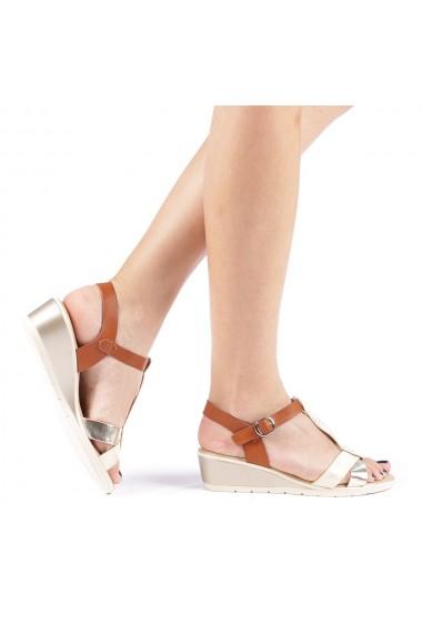 Sandale dama Elina aurii