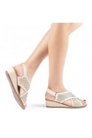 Sandale dama Edita taupe