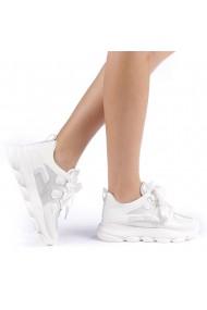 Pantofi sport dama Rika albi