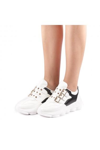 Pantofi sport dama Sandrina albi