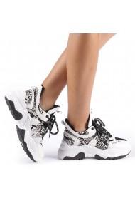 Pantofi sport dama Marysa alb cu gri