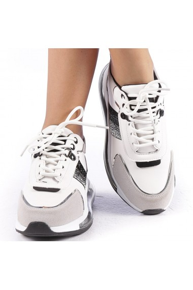 Pantofi sport dama Tamina alb cu negru