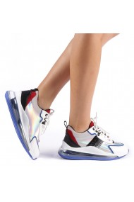 Pantofi sport dama Tamina alb cu albastru