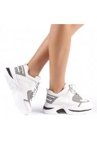 Pantofi sport dama Trania albi