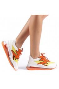 Pantofi sport dama Sadal alb cu galben