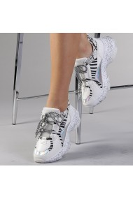 Pantofi sport dama Ailis albi