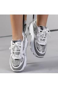 Pantofi sport dama Philippa alb cu gri