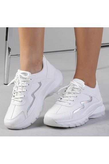 Pantofi sport dama Seona albi