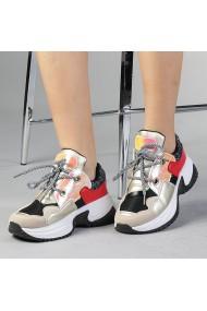 Pantofi sport dama Ernesta negru cu auriu