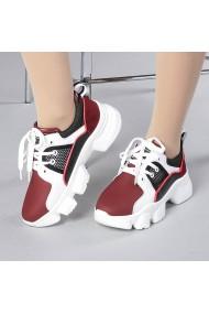 Pantofi sport dama Rane alb cu grena