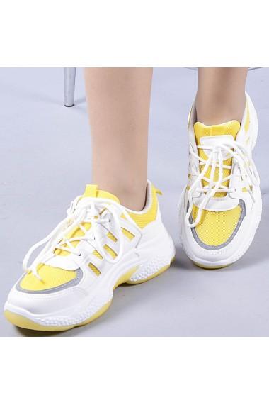 Pantofi sport dama Ludovica galbeni