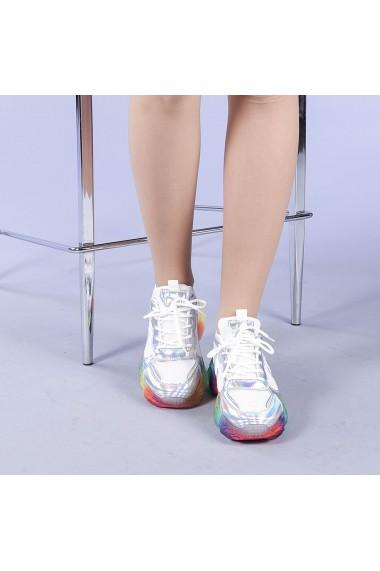 Pantofi sport dama Riya argintii