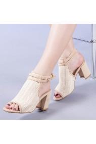 Sandale dama Tiffany bej