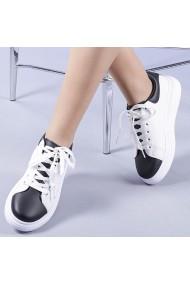 Pantofi sport dama Zaria negri cu alb