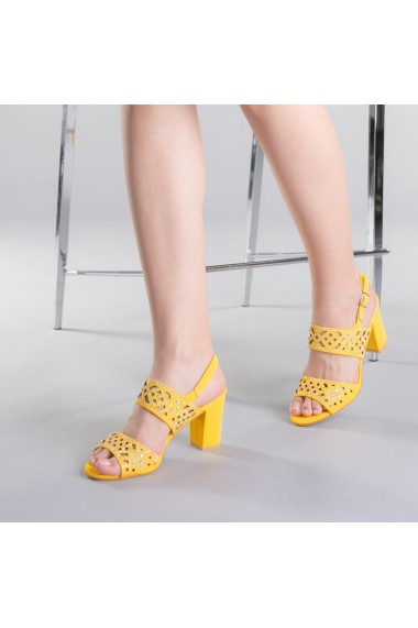 Sandale dama Sanziana galbene