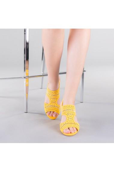 Sandale dama Sarah galbene