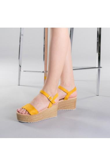 Sandale dama Nona galbene