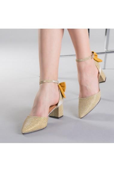 Pantofi dama Roxanne aurii