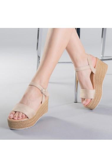 Sandale dama Nona bej