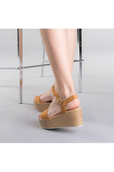 Sandale dama Nona camel