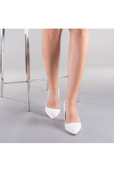 Pantofi dama Clarra albi