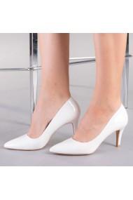 Pantofi dama Talida albi