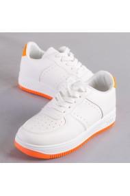 Pantofi sport dama Softa alb cu portocaliu