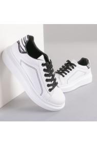 Pantofi sport dama Lagos alb cu leopard