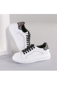 Pantofi sport dama Lagos alb cu snake