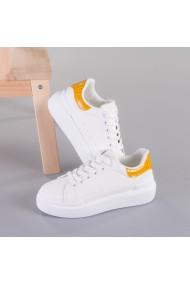Pantofi sport dama Giza alb cu galben