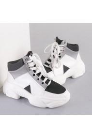 Pantofi sport dama Hista alb cu negru