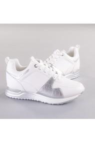 Pantofi sport dama Vals alb cu argintiu