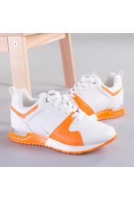Pantofi sport dama Vals alb cu portocaliu