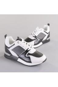 Pantofi sport dama Vals alb cu negru