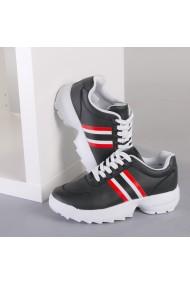 Pantofi sport dama Safir negru cu alb