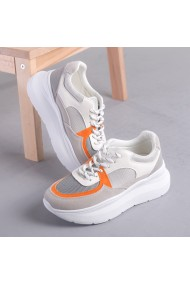 Pantofi sport dama Dafia alb cu portocaliu