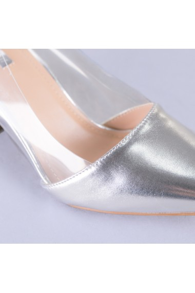 Pantofi dama Paris argintii