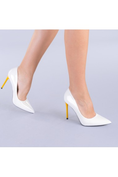 Pantofi dama Malia alb cu galben